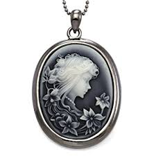victorian cameo necklace images Soulbreezecollection grey cameo pendant necklace charm jpg
