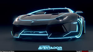 Lamborghini Aventador Neon - tron lamborghini aventador wallpaper wallpaper