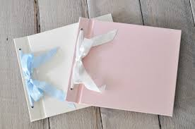 baby photo albums ribbon bow baby pictues albums handmade baby albums by blue