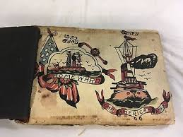 antique photo album antique rare1920 s 30 s tatoo flash book album for sale