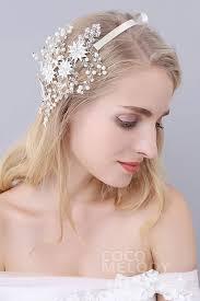 wedding headbands alloy wedding headbands with rhinestone imitation pearl flowers