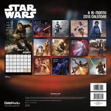 2018 star wars saga wall calendar by trends international