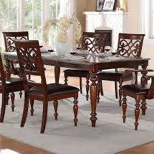 Solid Wood Formal Dining Room Sets Homelegance Creswell Traditional Formal Dining Table With Turned