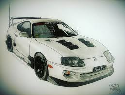 toyota supra drawing images tagged with pha72j on instagram