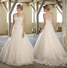 selling wedding dress best selling 2014 new illusion bateau neckline tulle applique