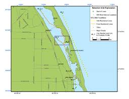 Florida Coast Map Sebastian Inlet Map Archive Of Digital Boomer Sub Bottom Data