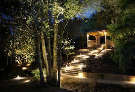 woodland walk outside lighting surrey ornamental garden lighting
