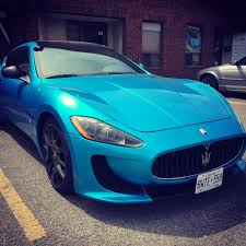 chrome blue maserati wrapking premium car wrap car foil canada chrome car