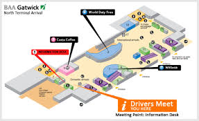 Phoenix Airport Map by London Map Maps London England