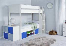 Stompa UNOS Detachable Storage Bunk Bed Frame And Underbed Storage - White bunk beds uk