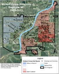 Flint Michigan Map Mapping Saginaw Crime Svsu Project Ids City U0027s U0027hot Spots U0027 Shows