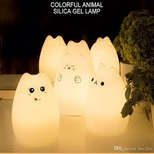 usb cat night light ful cat children animal led night light silicone soft cartoon baby