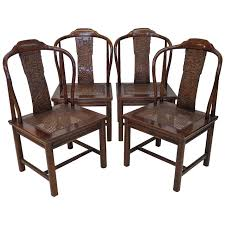 set of four asian inspired chairs by henredon furniture at 1stdibs