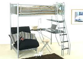Black Bunk Bed With Desk Black Loft Bed With Futon Myubique Info
