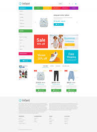 baby clothes opencart template