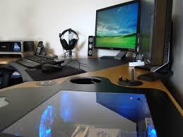 Computer Inside Glass Desk Furniture Minimalist Nesting Computer Desk From Mdf Inside