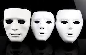 plain mask party masks jabbawockeez mask white hip hop mask plastic white