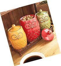 owl canister ebay