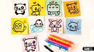 how to draw cute animals easy drawings by garbi kw youtube