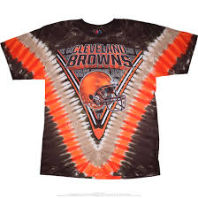 Cleveland Browns Home Decor by Nfl Cleveland Browns V Tie Dye T Shirt Tee Liquid Blue