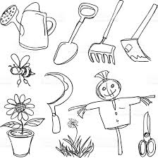 farming tools collection stock vector art 165740975 istock