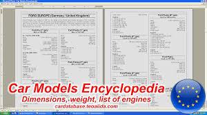 list of engines car encyclopedia models dimensions list of engines car