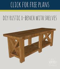 diy rustic x bench free woodworking plans diy huntress