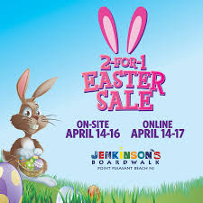 our annual 2 for 1 amusement ride card easter sale is back
