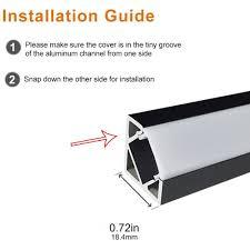 how to install led strip lights v03 18x18mm v shape internal width 12mm corner mounting led