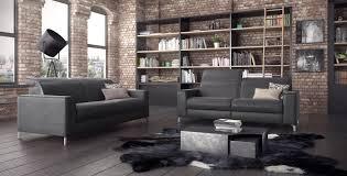 salon haut de gamme ambiance loft urbain meubles duquesnoy