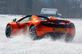 orange mclaren 12c mclaren mp4 12c ice driving course pictures mclaren mp4 12c