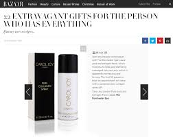 the carol joy london pure collagen spray features in the harper u0027s