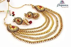 indian bridal necklace images One gram gold indian bridal jewellery at rs 1500 set bridal jpg