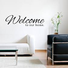 home wall welcome to our home wall sticker by sirface graphics