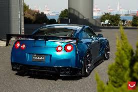 nissan gtr matte blue skipper tuning nissan gt r excellent aero effects vossen wheels