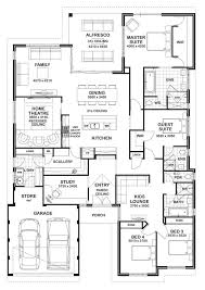 Impressive 4 Bedroom House Plans 4 Bedroom House Floor Plans Free Home Deco Plans