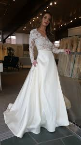 wedding dress sleeve sleeve wedding dress inside alta moda bridal someday