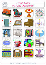 livingroom cartoon living room free esl efl worksheets made by teachers for teachers