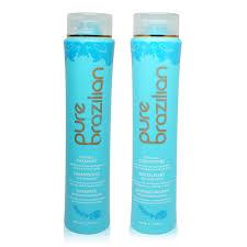 amazon com pure brazilian anti frizz shampoo u0026 conditioner 13 5