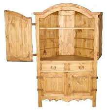 san miguel rustic corner armoire