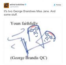 george brandis mocked abstract squiggle style signature