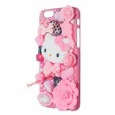 aliexpress buy cute kitty crystal pearl 3d case