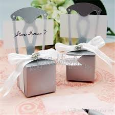 wedding faovrs miniature chair favor box with heart charm