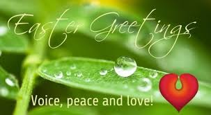 easter greetings voice peace and