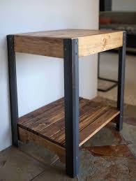 Wood End Tables Metal End Table With Wood Top Home Design Ideas