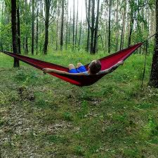 rengard portable camping hammock sturdy and breathable parachute