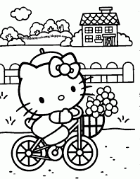 kitty coloring pages kids sheet cartoons bad sheets puppy