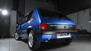peugeot fast car peugeot 205 gti gets modern tuning conversion autoevolution