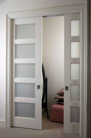 Interior Bifold Doors With Glass Inserts Home Decor Asthonishing Frosted Glass Pocket Door Interesting