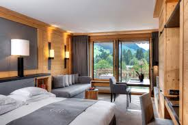 enjoying the beautiful views of the swiss mountains at park gstaad